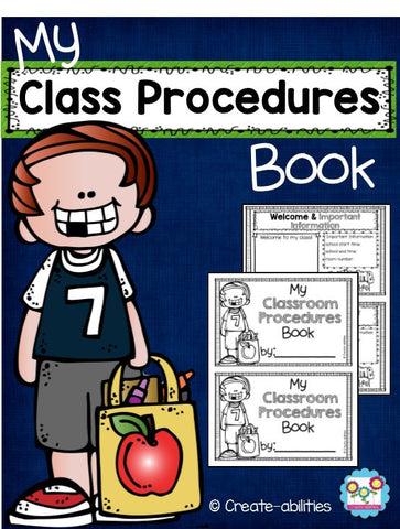 Classroom Procedures Book for Back to School