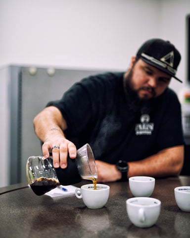 Nick Pouring Coffee