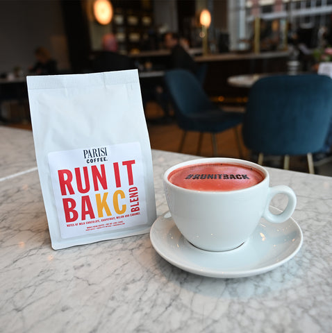 Parsisi Coffee's RUN IT BAKC BLEND and RUN IT BAKC RED MOCHA