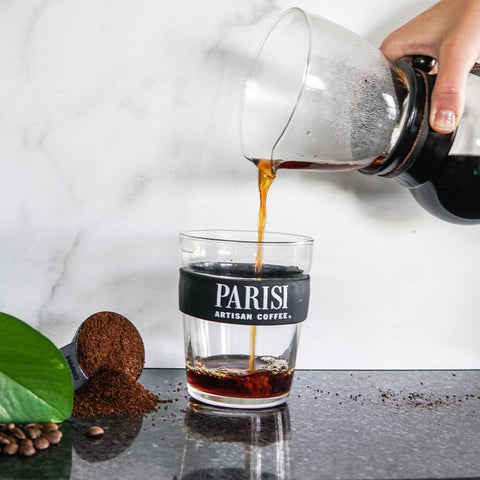 Pouring Parisi Coffee