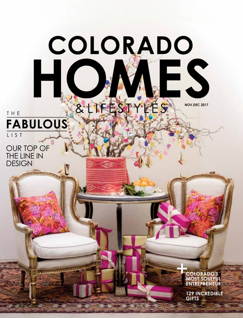 The Patricia Chair as Featured in Colorado Homes & Lifestyles