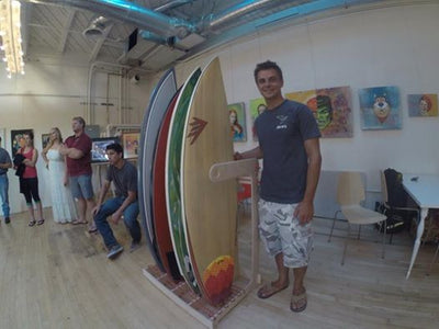 The Alexey Surfboard Rack designer