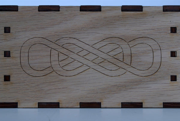 Wedding Ceremony Wine Box - double infinity detail