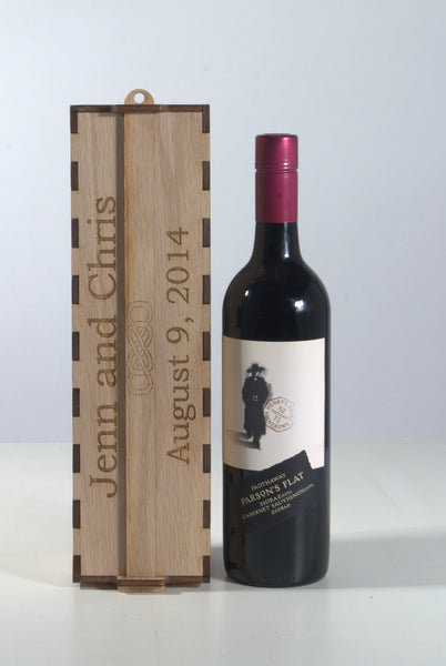 Wedding Ceremony Wine Box - standing