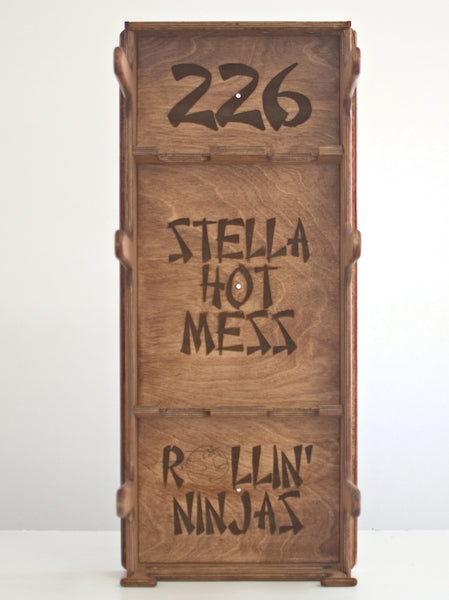 Roller Derby Gear Rack - Stella Hot Mess