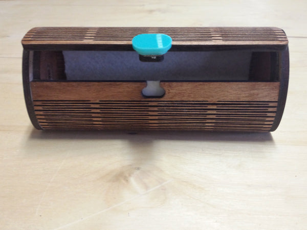 Wood Sunglass Case - open