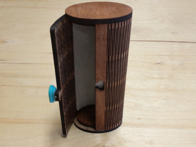 Wood Sunglass Case - standing