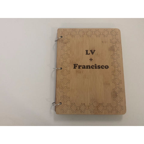 personalized bamboo photo binder front