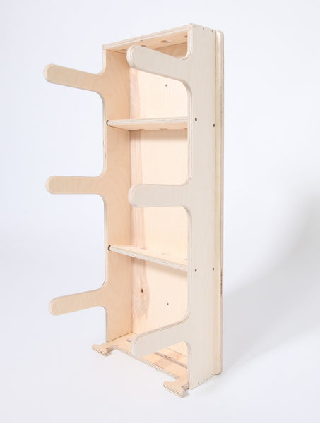 Roller Derby Gear Rack - side