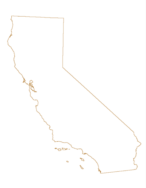 State of California outline vector