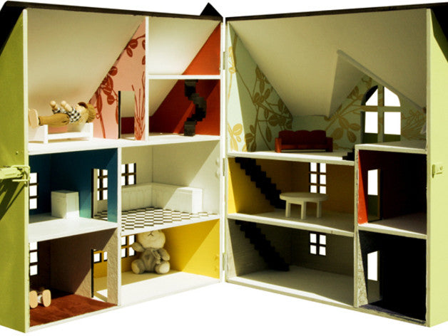 Doll House Cut On A Laser Cutter From Mdf Obrary