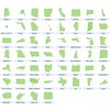 US States Outline Vectors