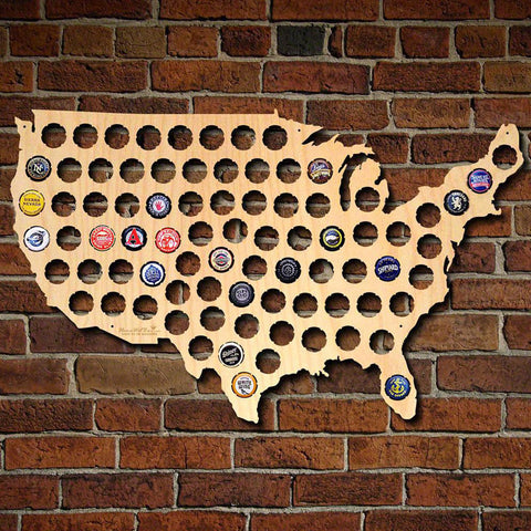 USA Bottle Cap Map