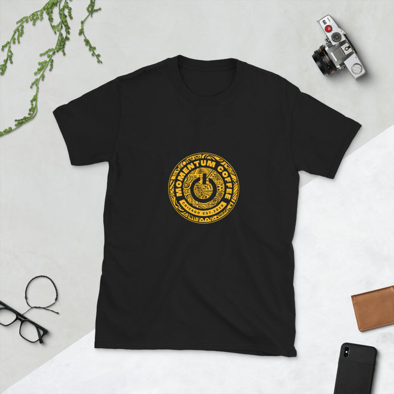 Black & Gold Momentum Chicago Short-Sleeve Unisex T-Shirt