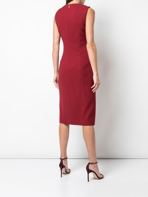 STRETCH VISCOSE WOOL SLEEVELESS DAY DRESS