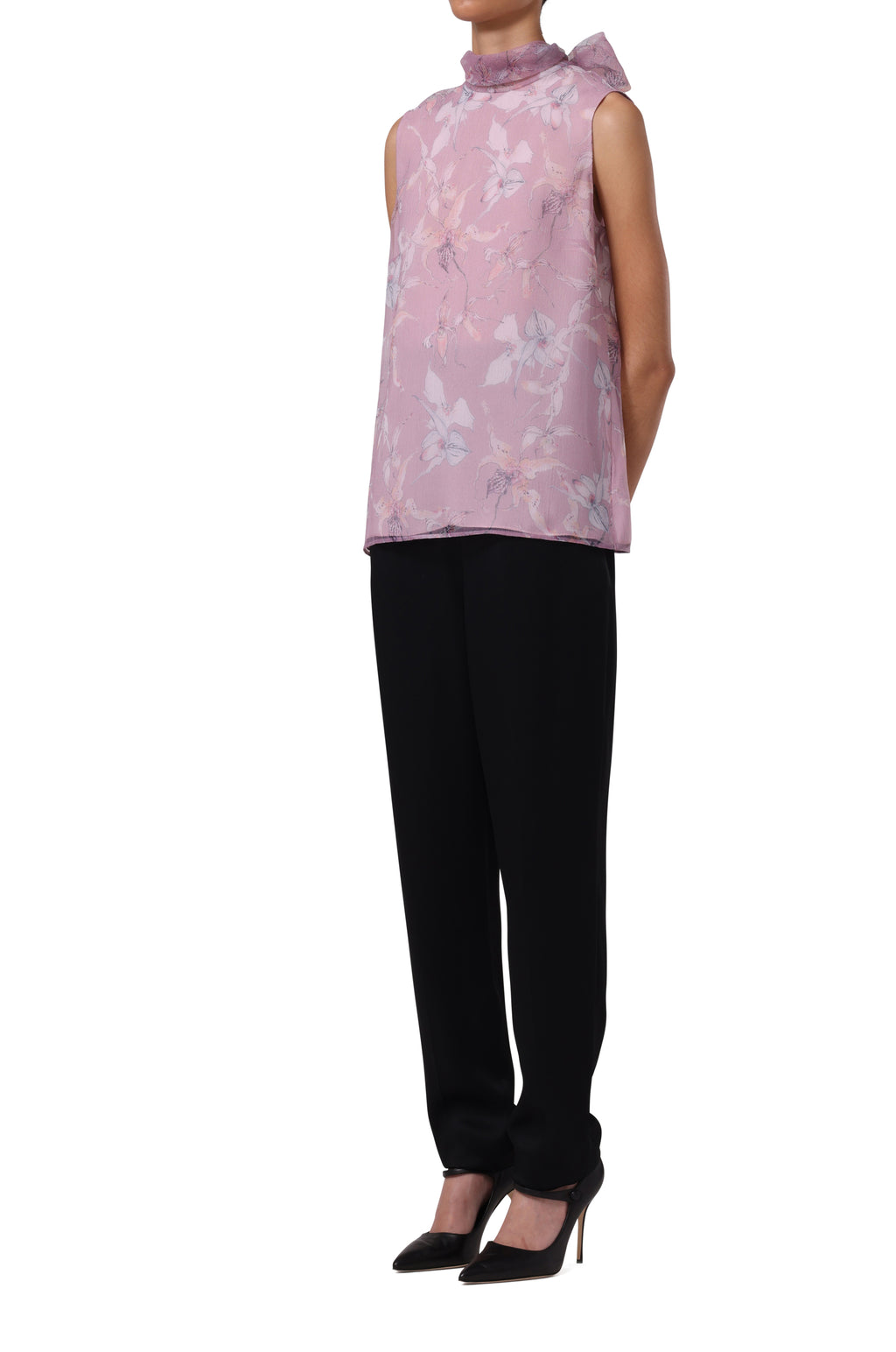 CHERRY BLOSSOM TOP WITH NECK TIE DETAIL