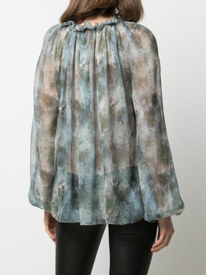 SMALL FIREFLY PRINTED CHIFFON TOP