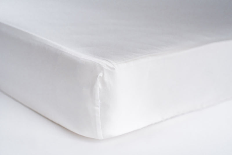 fitted crib sheet - white