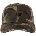 Cap: Distressed Camo (TIER ONE FLAG) Brown/Black