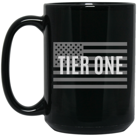 Mug: Tier One Flag (black)