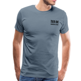 Men's Premium T-Shirt (Bonefrog) - steel blue