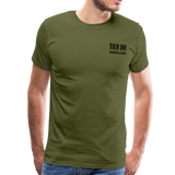 Men's Premium T-Shirt (Bonefrog) - olive green