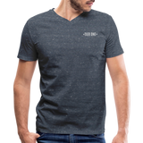 Men's V-Neck T-Shirt (Tier One) - heather navy