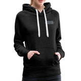 Ladies Cozy Hoodie (Tier One Stars) - charcoal gray
