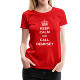 Ladies Keep Calm Crew - red