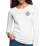 Women's Premium Slim Fit Long Sleeve T-Shirt - white