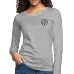 Women's Premium Slim Fit Long Sleeve T-Shirt - heather gray