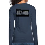 Women's Premium Slim Fit Long Sleeve T-Shirt - navy