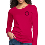 Women's Premium Slim Fit Long Sleeve T-Shirt - dark pink