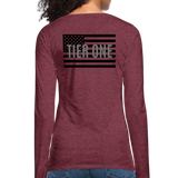 Women's Premium Slim Fit Long Sleeve T-Shirt - heather burgundy