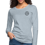 Women's Premium Slim Fit Long Sleeve T-Shirt - heather ice blue