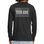 Men's Long Sleeve Crew (A&W / Tier One Flag) - black
