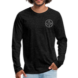 Men's Long Sleeve Crew (A&W / Tier One Flag) - charcoal gray