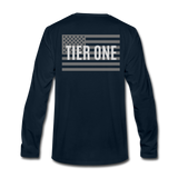Men's Long Sleeve Crew (A&W / Tier One Flag) - deep navy