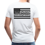 Men's Short Sleeve Crew (A&W / TIER ONE Flag) - white