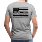 Men's Short Sleeve Crew (A&W / TIER ONE Flag) - heather gray