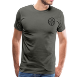 Men's Short Sleeve Crew (A&W / TIER ONE Flag) - asphalt gray