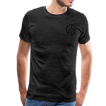 Men's Short Sleeve Crew (A&W / TIER ONE Flag) - charcoal gray