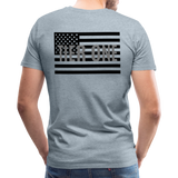 Men's Short Sleeve Crew (A&W / TIER ONE Flag) - heather ice blue