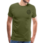 Men's Short Sleeve Crew (A&W / TIER ONE Flag) - olive green