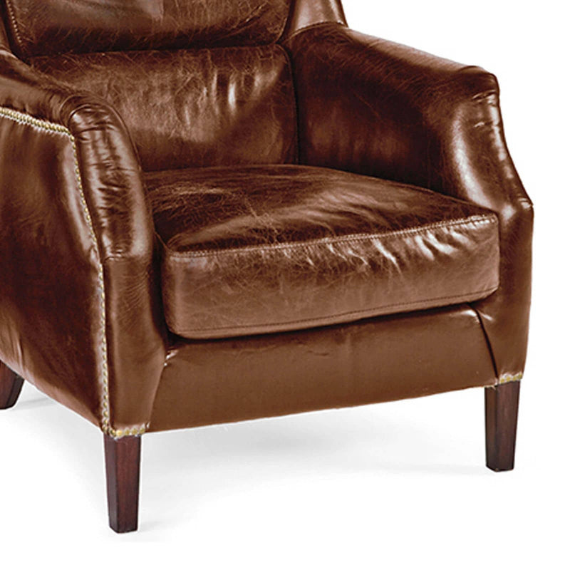 Leather Garconniere Chair