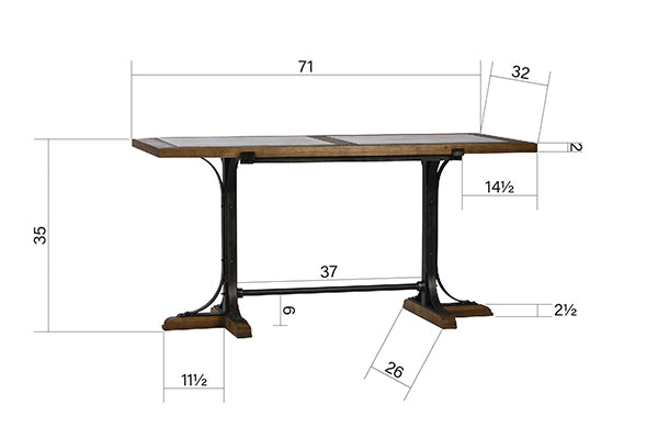 PIKE BAR AND COUNTER TABLE