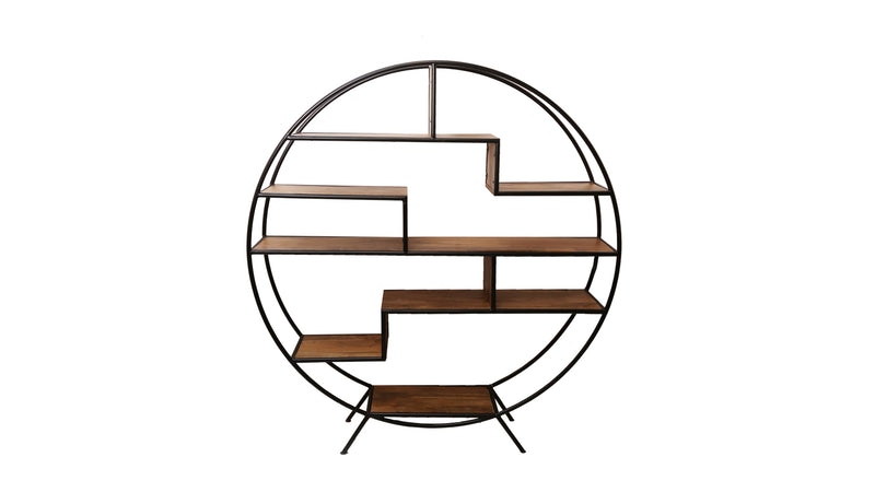 Accord Round Metal and Wood Etagere