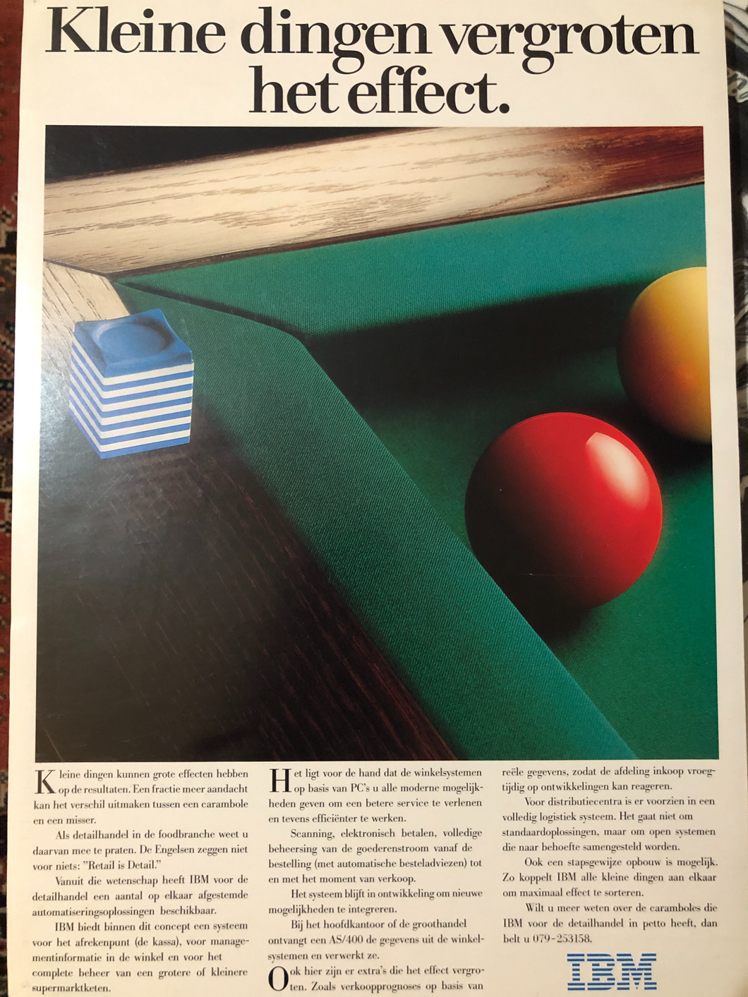 IBM Ad Featuring Billiard Table & Balls