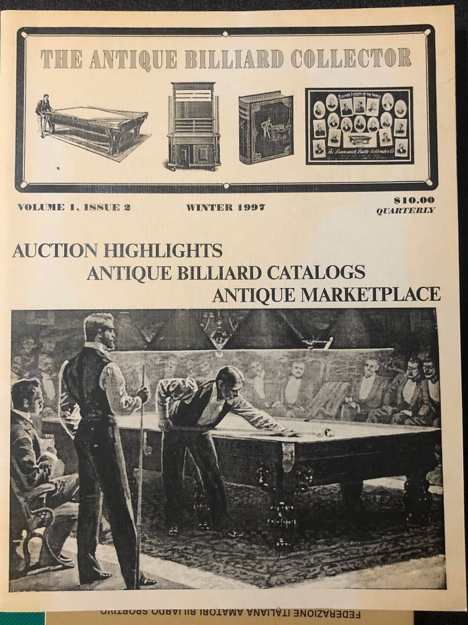 1997 The Antique Billiard Collector Auction Catalog (Winter)