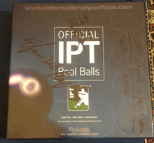 Load image into Gallery viewer, Autographed Pool Ball Set Used in IPT World Open Final- Signed by Efren Reyes and Rodney Morris